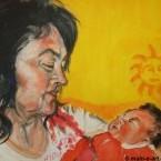 Susi F. mit Enkelkind